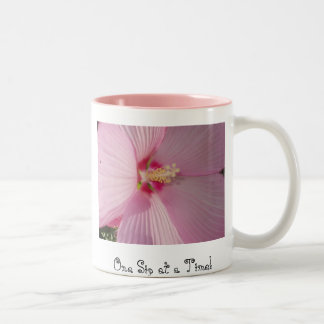 One Sip at a Time! Two-Tone Coffee Mug