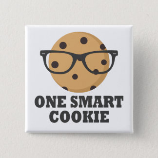 One Smart Cookie 2 Inch Square Button