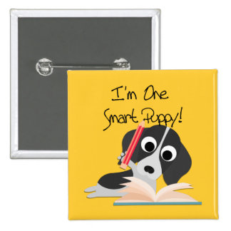 One Smart Puppy Pinback Buttons