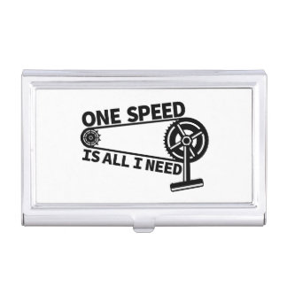 One Speed Is All I Need, single speed fixie Business Card Holder