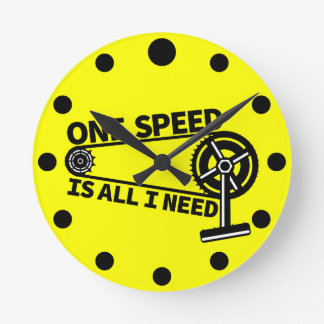 One Speed Is All I Need, single speed fixie Clock
