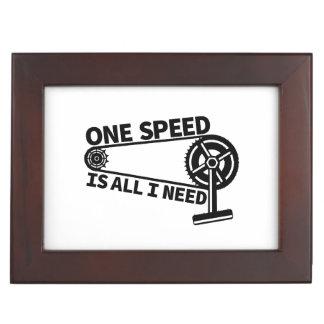 One Speed Is All I Need, single speed fixie Keepsake Box