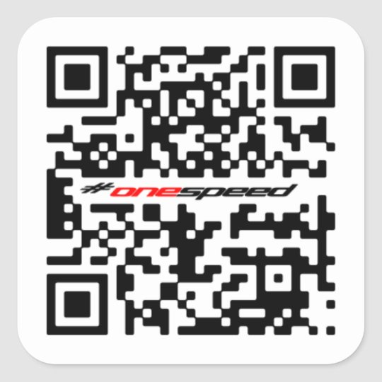 One speed QR Square Sticker