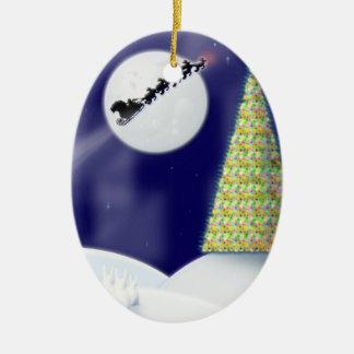 One Starry Night Ceramic Ornament