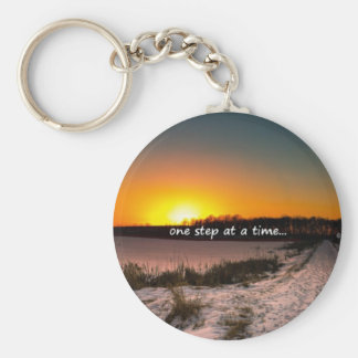 One Step at a Time Basic Round Button Keychain