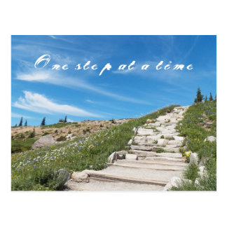 One Step at a Time Inspirational Postcard