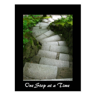 One Step at a Time Postcard