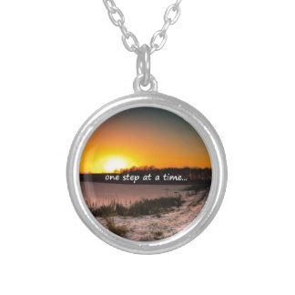 One Step at a Time Silver Plated Necklace