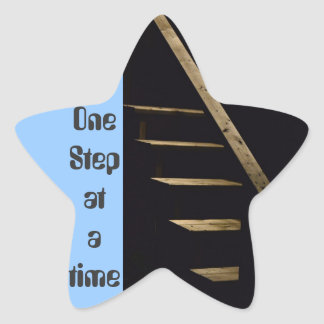One step at a time star sticker