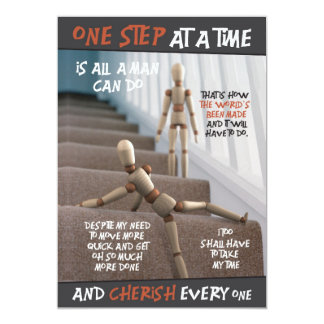 one step | mini-print card
