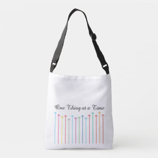 ONE THING AT A TIME custom tote bag