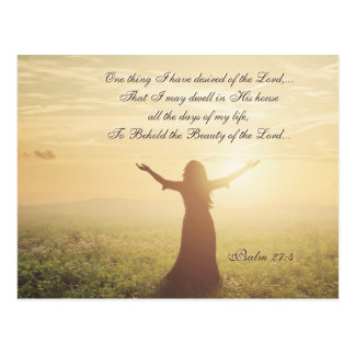 One Thing I have Desired of the Lord, Psalm 27:4, Postcard