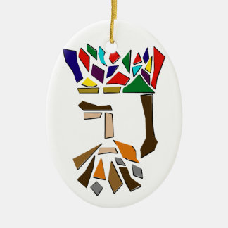 One Third of Three Kings Ornament, oval Ceramic Ornament