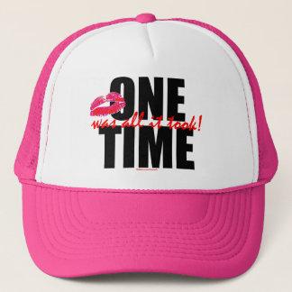 ONE TIME WAS ALL IT TOOK! (c) S.K.Originals Logo Trucker Hat