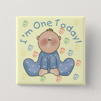 One Today Boy Birthday Tshirts and Gifts 2 Inch Square Button