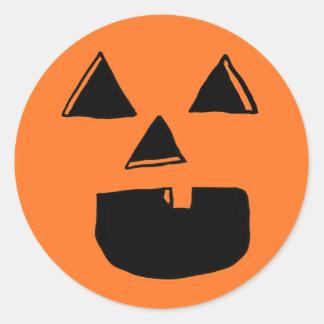One Tooth Jackolantern Classic Round Sticker