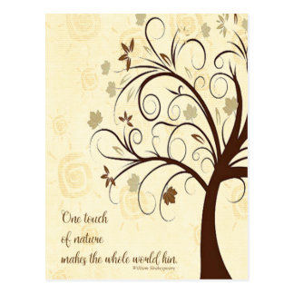One Touch of Nature Makes the Whole World Kin Postcard