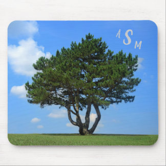 One Tree Full of Life, a Blue Sky & White Clouds Mouse Pad