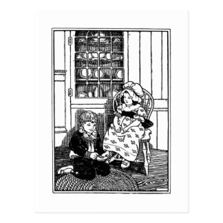 One, Two, Buckle My Shoe Nursery Rhyme Postcard