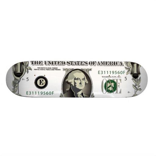 One US $ Bill  Skateboard