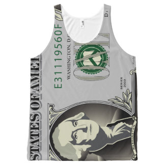 One US Dollar Bill All-Over-Print Tank Top