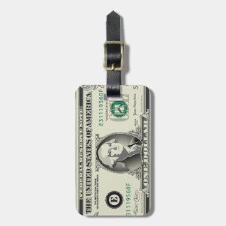 One US $ Dollar Bill Luggage Tag