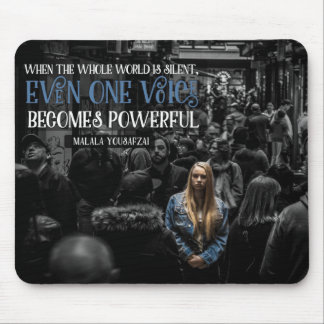 One Voice Becomes Powerful Mouse Pad