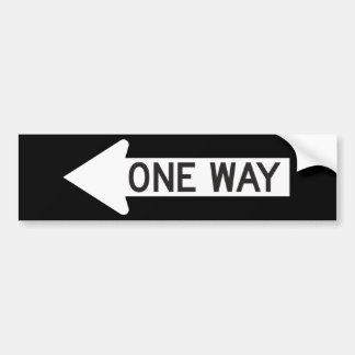 One Way Arrow Road Sign Bumper Sticker