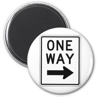 One Way Right Sign Magnet