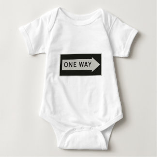 One way road sign right direction baby bodysuit