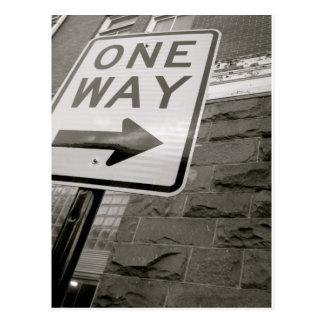 One Way Street Postcard
