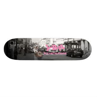 One wheel robo skate decks
