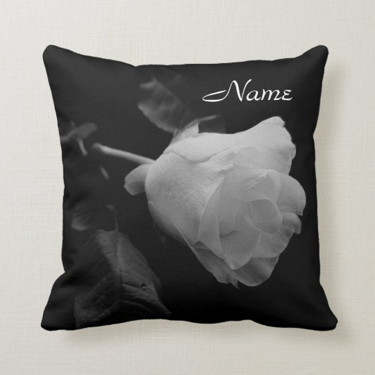 """One White Rose"" Pillow"