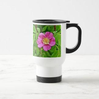 One Wild Rose Travel Mug