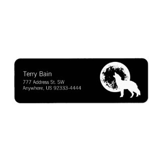 One Wolf Moon Return Address Label