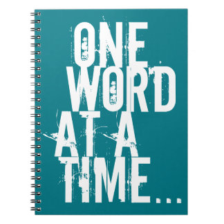 one word at at time note book