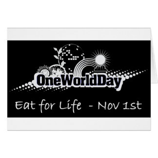 One World Day 1st November Greeting Cards