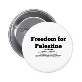 One World Freedom For Palestine 2 Inch Round Button