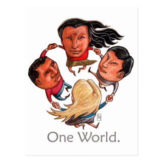 One World Global Community Postcard
