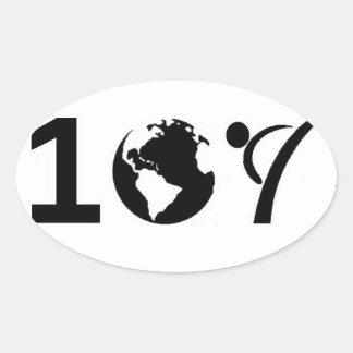One World Karate Oval Sticker