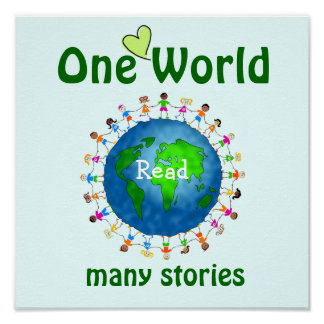 One World Many Stories Literacy Poster