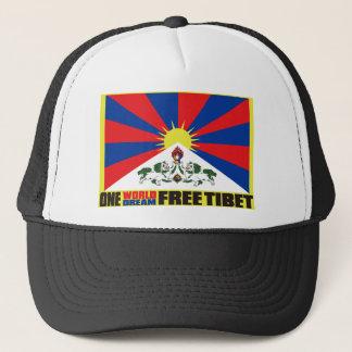 ONE WORLD ONE DREAM FREE TIBET TRUCKER HAT