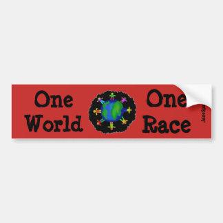 One World, One Race Bumper Sticker