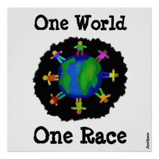 One World, One Race Poster