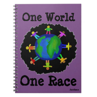 One World, One Race Spiral Notebook