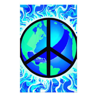One World Peace Sign Stationery
