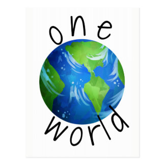 One World Protest Postcard