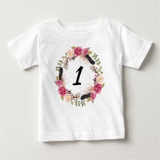 One Year Old Birthday Shirt Boho Birthday Shirt