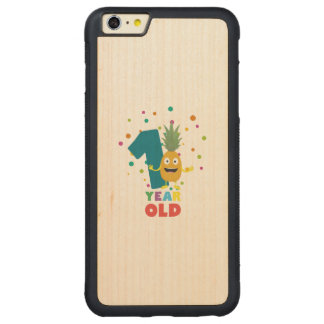 One Year old first Birthday Party Zpuo7 Carved® Maple iPhone 6 Plus Bumper Case