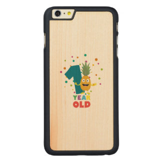 One Year old first Birthday Party Zpuo7 Carved® Maple iPhone 6 Plus Case